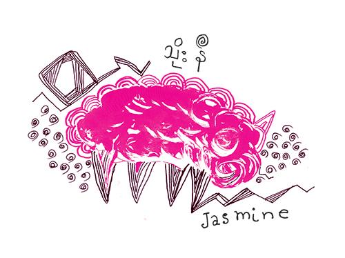 သိုးနီ(ကဗျာ)၊ ကဗျာဆရာမ Jasmine